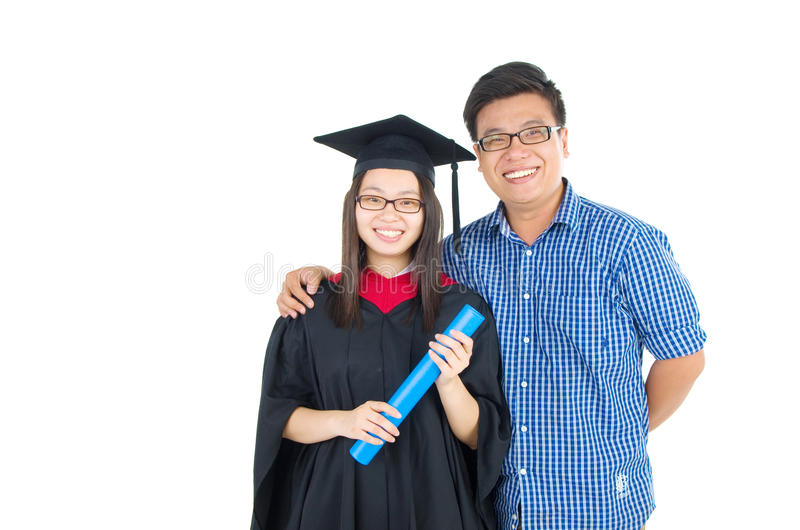 亚洲毕业 库存图片