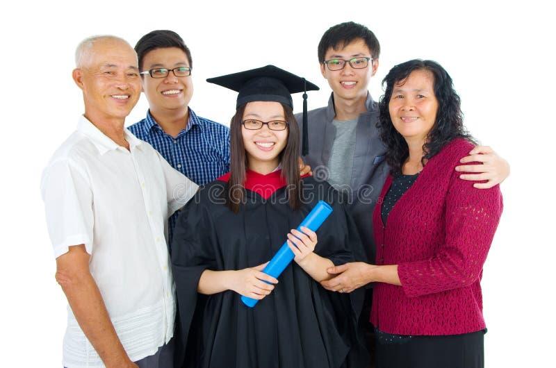 亚洲毕业 库存照片