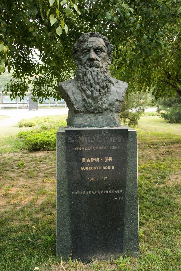亚洲汉语,北京国际雕塑公园, rodin, 免版税库存图片