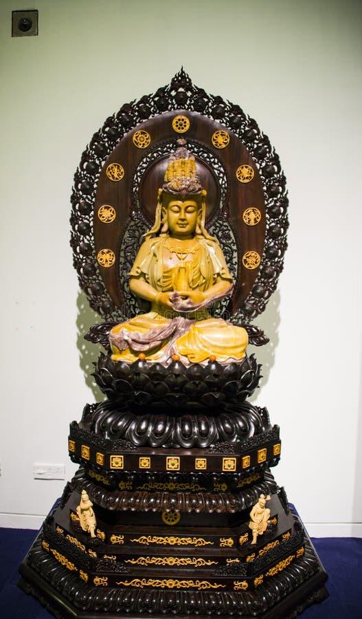 亚洲汉语,北京,国家博物馆,当代艺术比安奈尔,观音工业区菩萨 免版税图库摄影