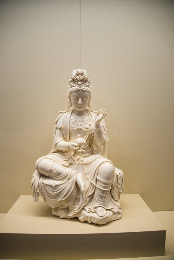 亚洲汉语,北京,国家博物馆,观音工业区菩萨 图库摄影
