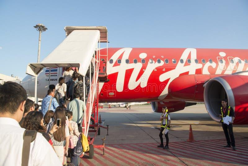 亚洲泰国曼谷航空旅行 免版税图库摄影
