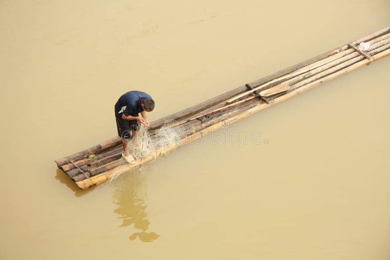 亚洲渔夫 库存图片