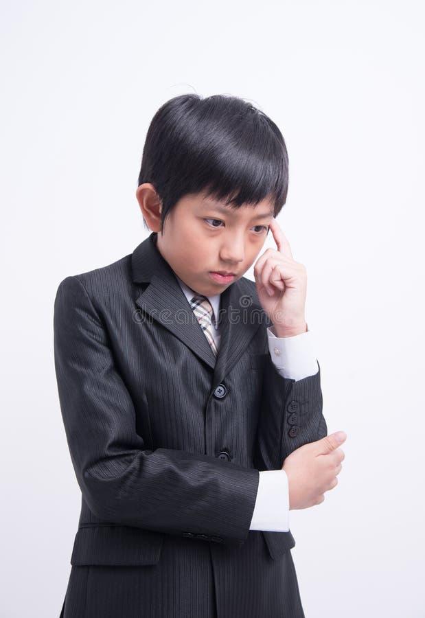 亚洲男孩商人 免版税库存照片