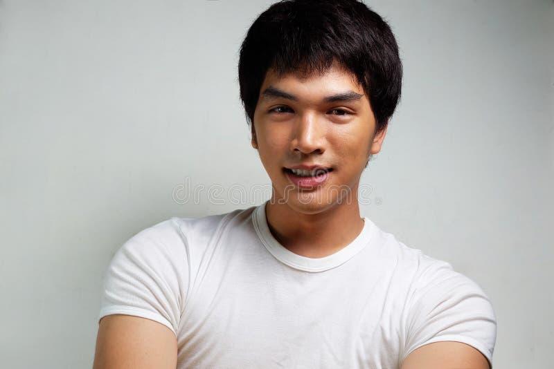 亚洲男性模型画象  免版税库存图片
