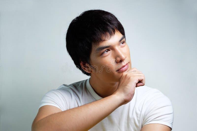 亚洲男性模型画象  免版税库存照片