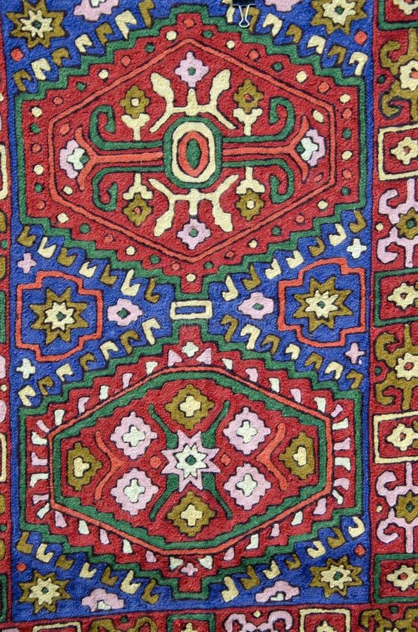 亚洲纺织品布料装饰物背景 免版税图库摄影