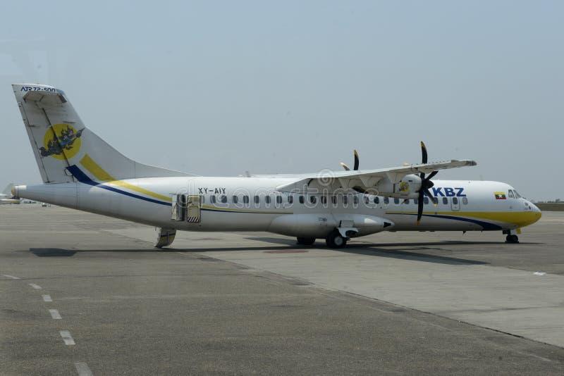 亚洲缅甸空气KBZ 免版税图库摄影