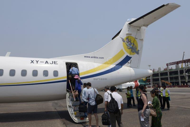 亚洲缅甸仰光机场 库存照片