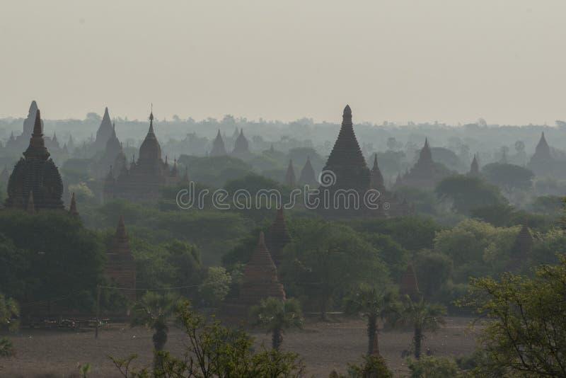亚洲缅甸BAGAN寺庙塔风景 库存照片