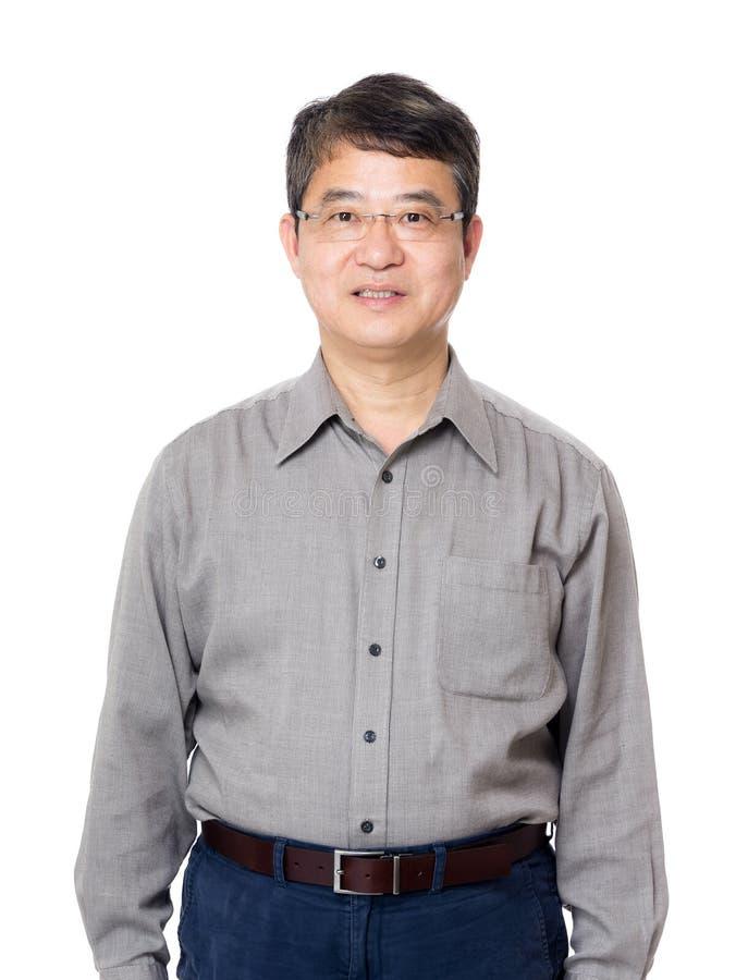 亚洲老人 免版税库存照片