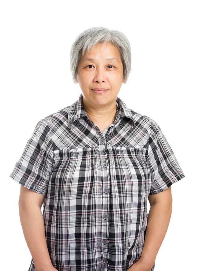 亚洲老妇人 图库摄影