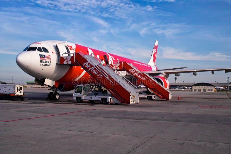 亚洲航空飞机 免版税图库摄影