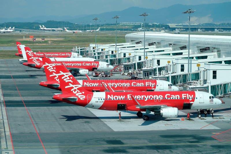亚洲航空飞机 免版税库存照片