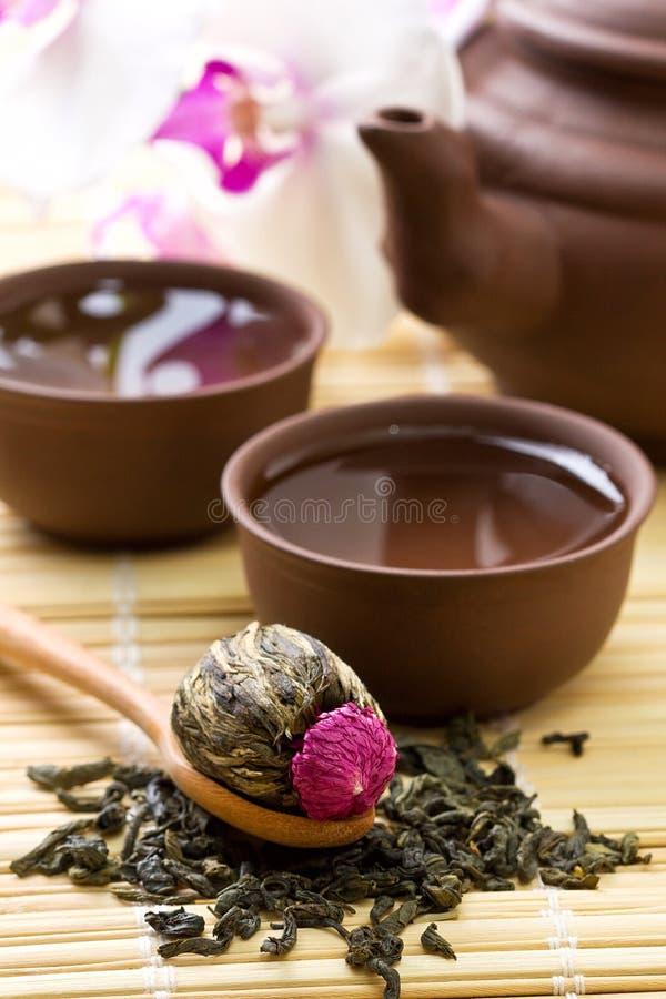 亚洲茶具 免版税库存图片