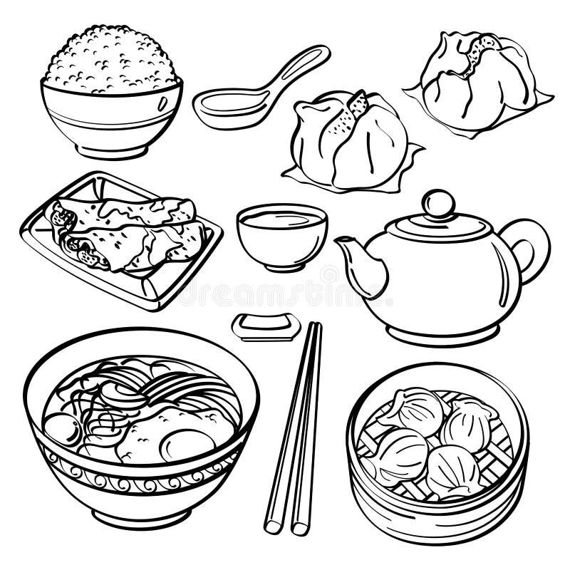 亚洲食物收藏 免版税图库摄影