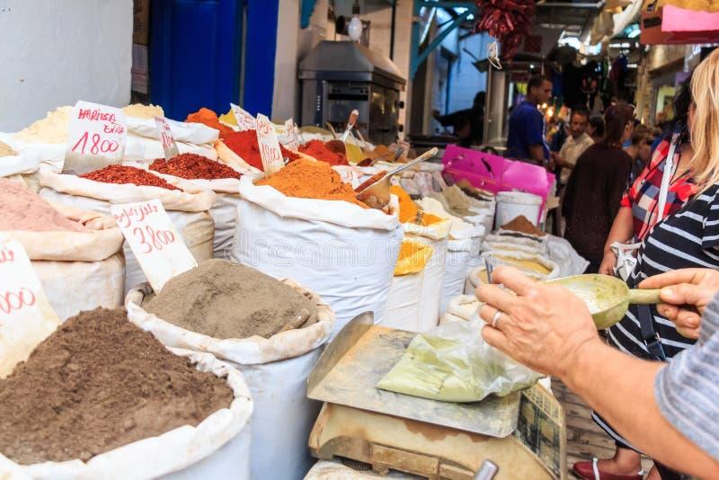 亚洲spicies和坚果在大袋 免版税库存图片