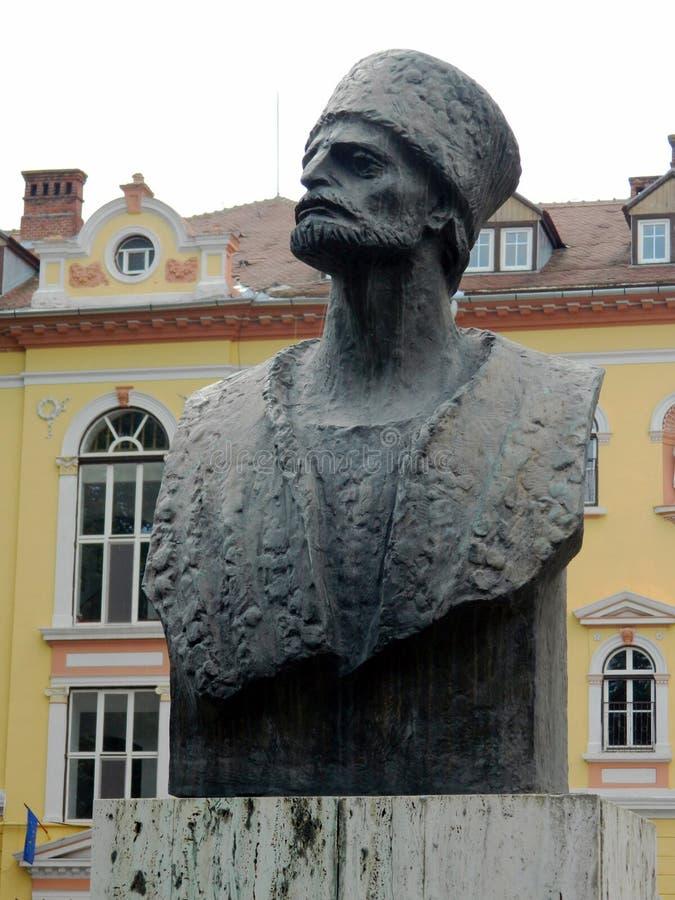 巴代亚Cartan Gheorghe胸象雕塑  免版税库存照片