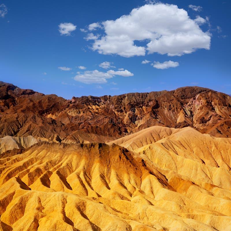 死亡谷国家公园加利福尼亚Zabriskie点 库存图片