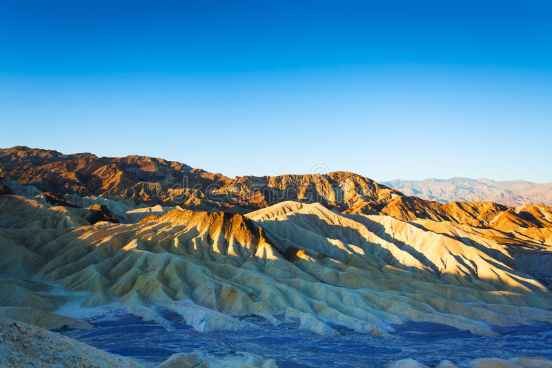 死亡谷山的早晨视图 免版税图库摄影