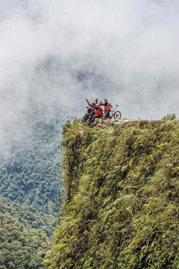 死亡玻利维亚观点路  库存图片