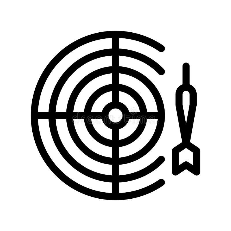 交互式孩子比赛箭导航稀薄的线象 库存例证
