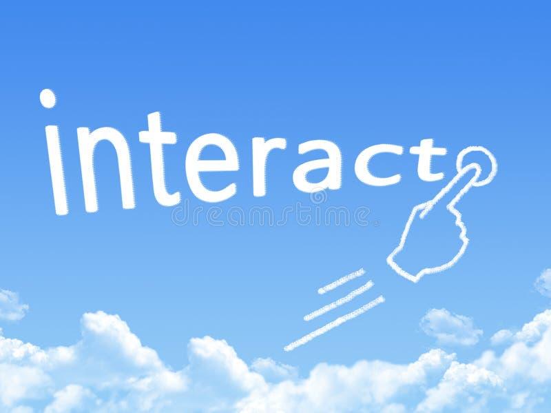 交互式消息云彩形状 库存例证