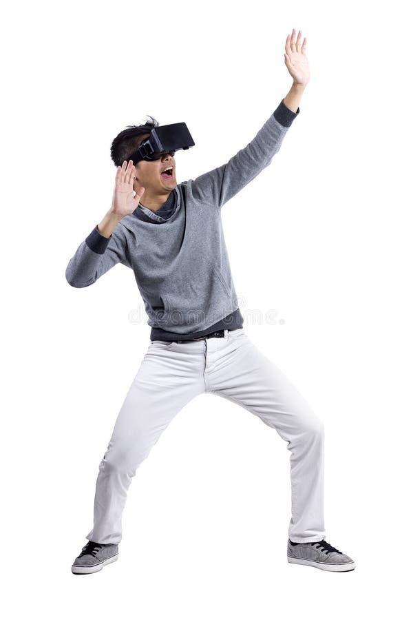 交互式虚拟现实 库存图片