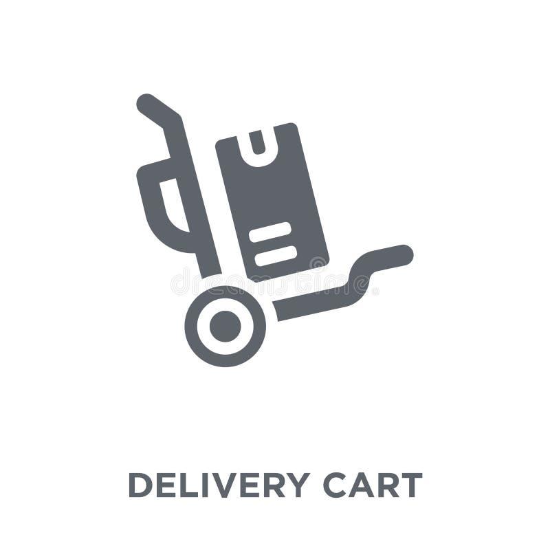 交付从交付和后勤收藏的推车象 向量例证