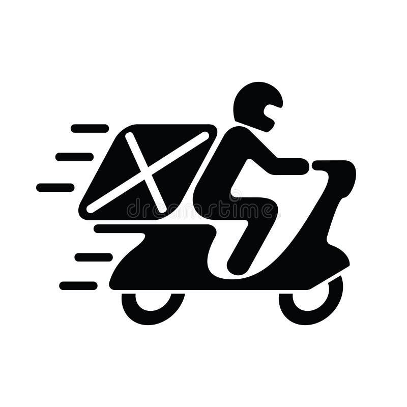 交付图形符号 摩托车的象人 库存例证