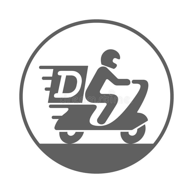 交付图形符号 摩托车的象人 皇族释放例证