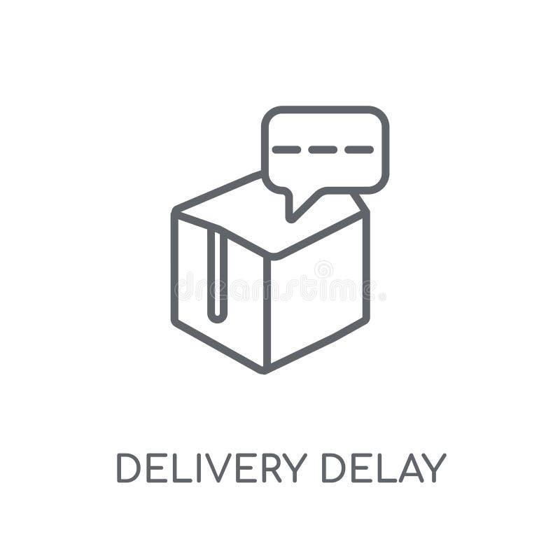 交付延迟线性象 现代概述交付延迟商标c 库存例证