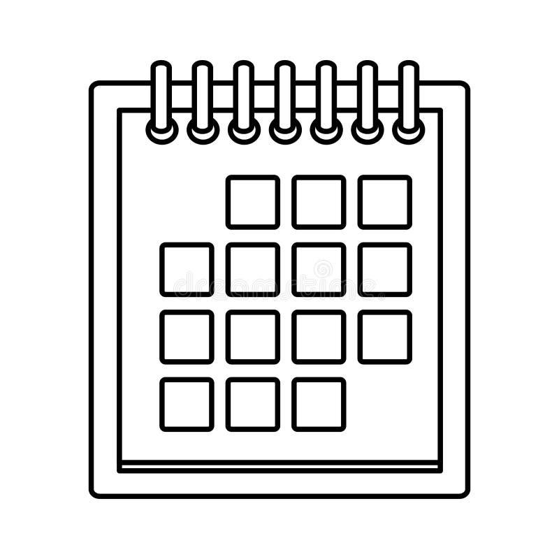 交付日历议程计划 库存例证