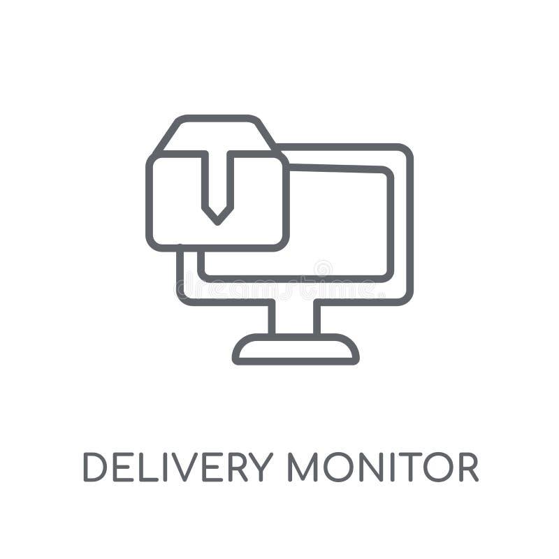 交付显示器线性象 现代概述交付显示器lo 库存例证
