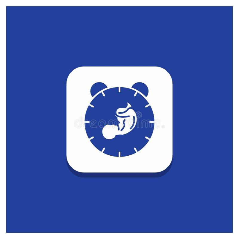 交付的,时间,婴孩,诞生,儿童纵的沟纹象蓝色圆的按钮 向量例证