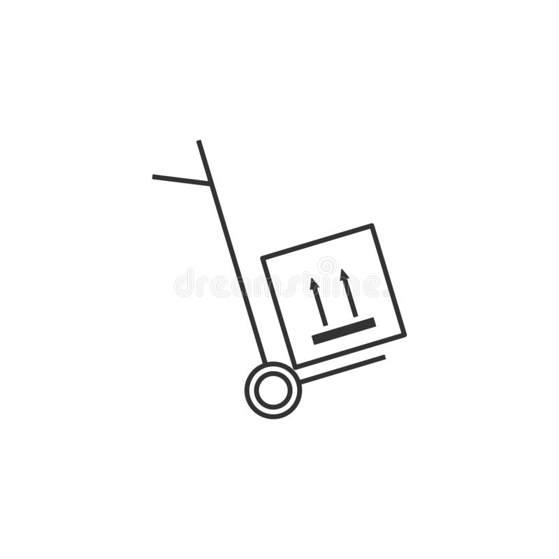 交付,交通线象 流动app的简单,现代平的传染媒介例证,网站或者桌面app 向量例证