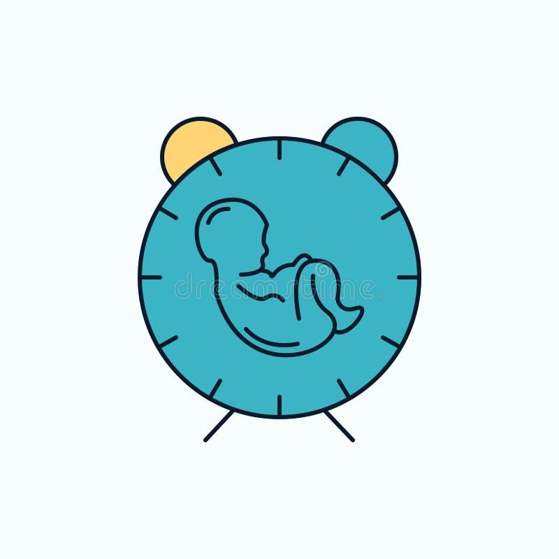 交付,时间,婴孩,诞生,儿童平的象 r ?? 向量例证