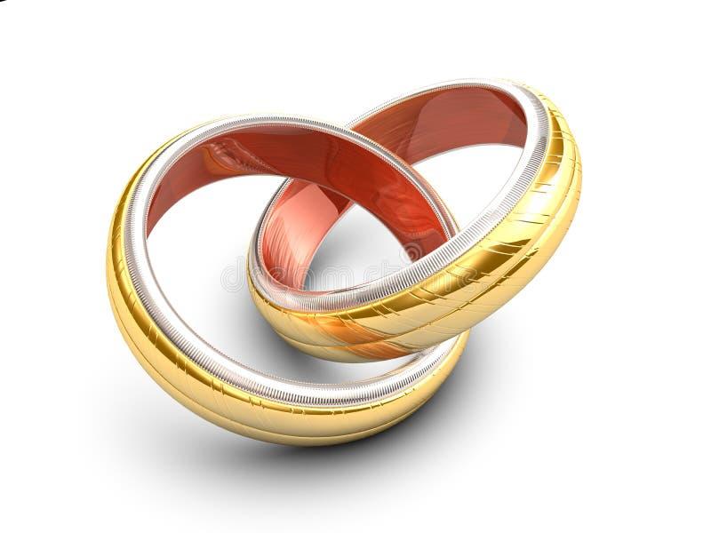 交叉敲响婚礼 向量例证
