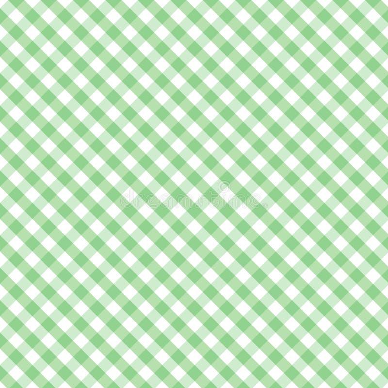 交叉方格花布绿色淡色无缝的织法 皇族释放例证