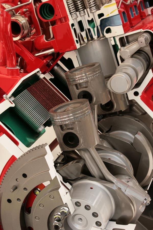 交叉柴油引擎大部分 库存图片