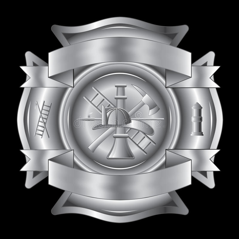交叉消防队员银 皇族释放例证