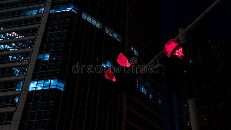 交叉点夜视图在中部城市在中国 免版税库存图片
