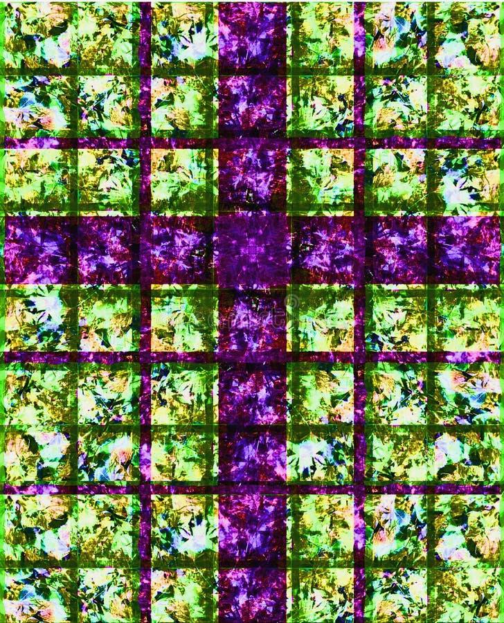 交叉玻璃紫色弄脏了 皇族释放例证