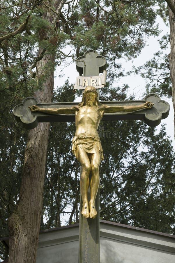 交叉的基督 库存照片