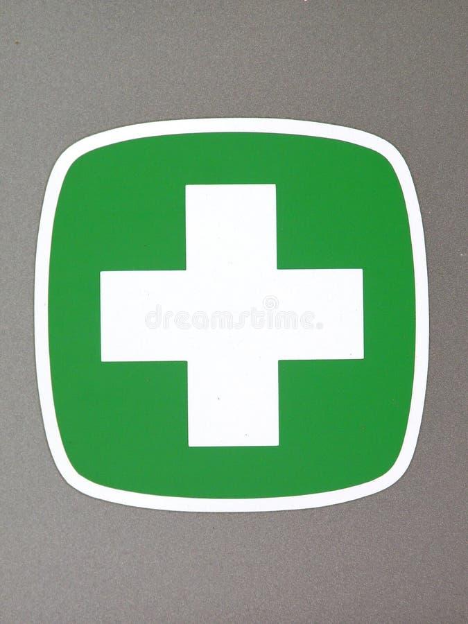 交叉绿色图标 免版税库存照片
