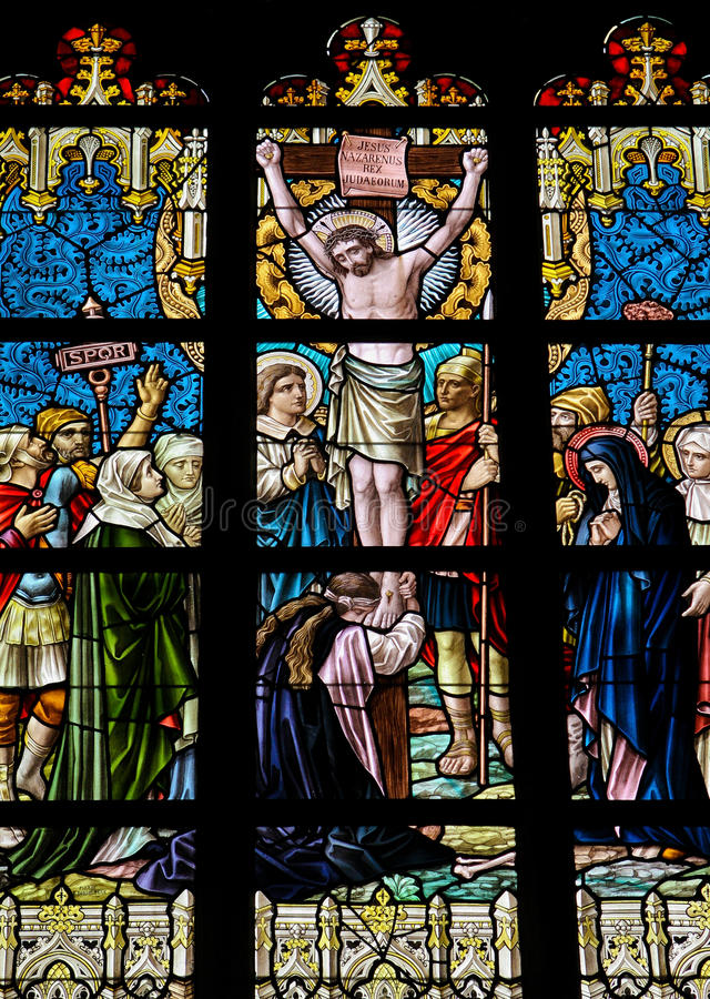 交叉耶稣 库存照片