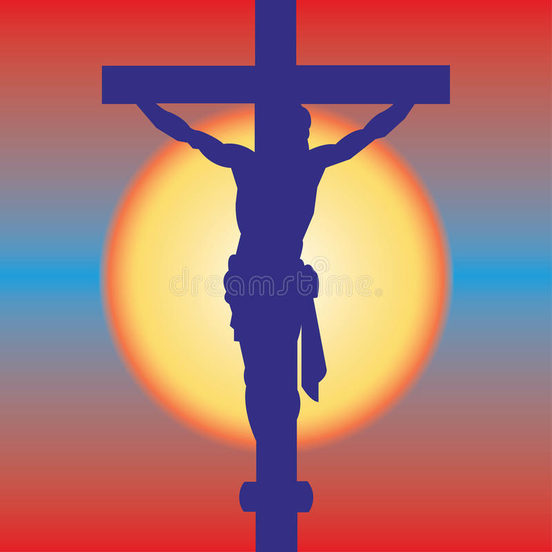 交叉耶稣 库存例证