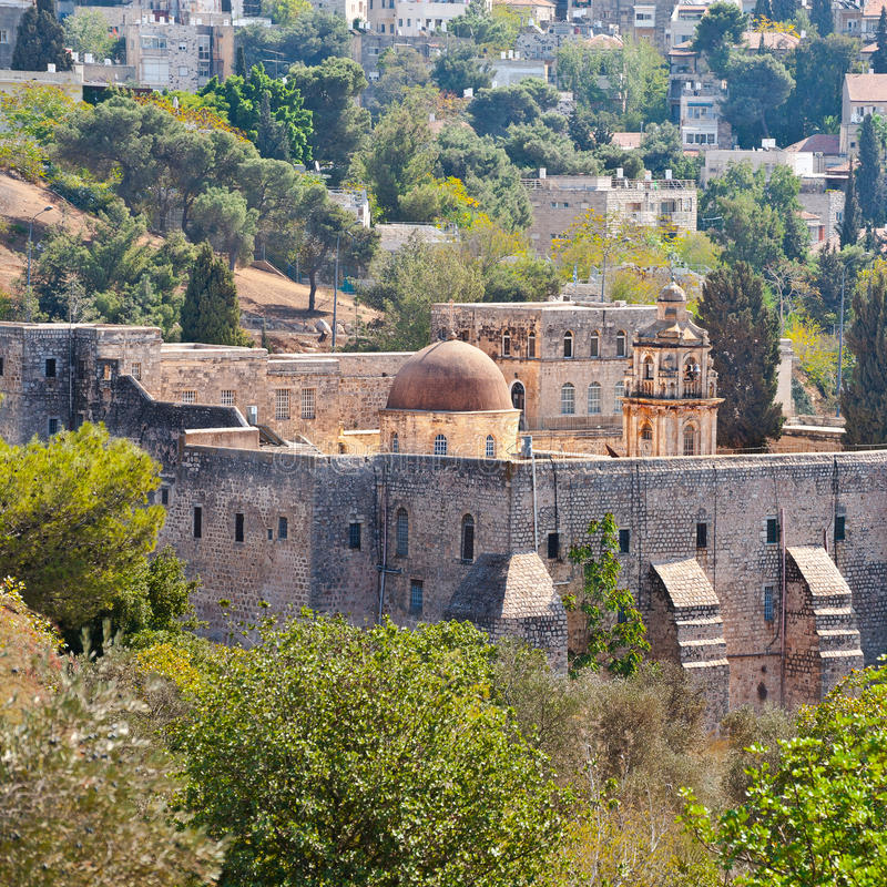 交叉耶路撒冷修道院 库存图片