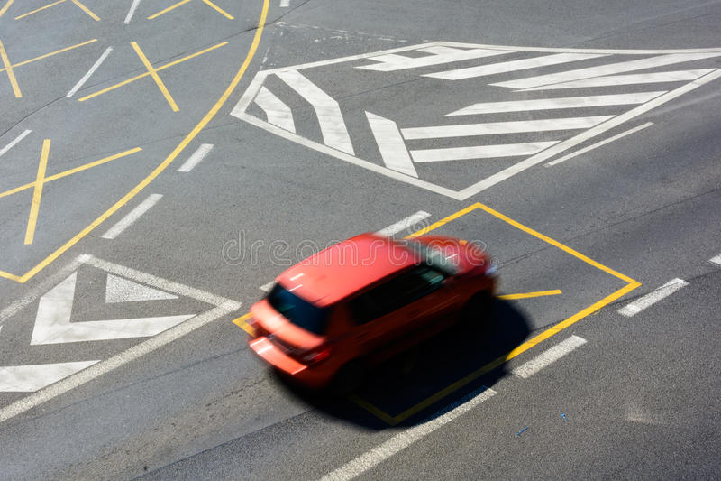 交叉路在中心 库存照片