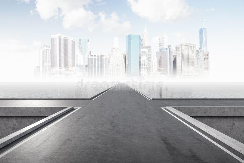 交叉路在城市 选择的概念 图库摄影